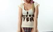 AV Erotica Angie Blonde Teen With Hairy Pussy Stripping And Spreading AV Erotica
