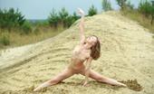 AV Erotica Dominika Small Titted Blonde Teen Posing Naked On The Beach AV Erotica