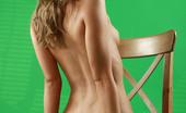 AV Erotica Sandy Perfectly Shaped Blonde Teen Posing Naked On The Chair AV Erotica