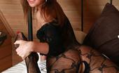 AV Erotica Liana Sexy Teen With Small Tits Posing In Sheer Full-Body Lingerie AV Erotica