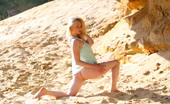 AV Erotica Grace Sexy Blonde Plays With Her Nude, Responsive Body In The Sand AV Erotica