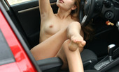 AV Erotica Amy Hot Blond Teen Amy Starts Posing Totally Naked Inside The Car AV Erotica