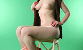 AV Erotica Daisy Nubile Redhead Daisy Shows Of Shaved Fat Cunt And Sexy Round Breasts AV Erotica