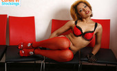 Cuties In Stockings Red Stockings Looking Great On Naked Mulatto Babe Cuties In Stockings