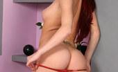 Cuties In Stockings Redhair Slut In Black Stockings Shows Her Trimmed Slit Cuties In Stockings