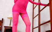 Cuties In Stockings Sporty Puss In Pink Stockings And See-Through Top Cuties In Stockings