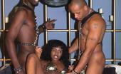 Dark Thrills Hot Black Babe Gets Double Penetrated And Big Tits Cumshoted Dark Thrills