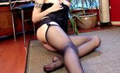 Stocking Stars Maya In Black Stockings And High Heels Stocking Stars