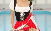 Stocking Stars Blonde Vikka Teasing In Her White Nylons And Black Heels Stocking Stars