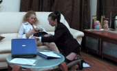 Kiss Matures Judith & Susanna Nasty Secretary Eagerly Riding On Mom'S Strap-On Like There Is No Tomorrow Kiss Matures