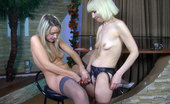 Kiss Matures Amelia Younger And Older Blonde Lesbians Kiss On The Mouth And Use A Rigid Strapon Kiss Matures