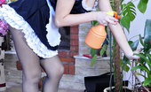 Kiss Matures Leila & Charlotte Upskirt French Maid Getting Attacked By Her Older Strapon-Wearing Mistress Kiss Matures