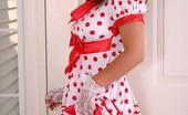 Kara's Handfull Kara In A Polkadot Dress With White Socks And Stockings Kara's Handfull