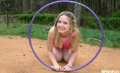 Kitty Kim Uninhibited Petite Teen Kitty Kim Playing Hoola Hoop Outdoors Kitty Kim