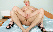World Mature This Mature Pussy Does Wonders In Bed Horny Mature Blonde Licking Balls, Taking Cock In Some Nice Positions And Getting Cumsprayed World Mature