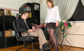 Pantyhose Parties Naive Gal In Black Tights Seduced Into Steamy 3sum By Her Lusty Co-WorkersMima Pantyhose Parties