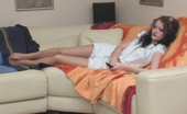 Nylon Feet Line Marina & Tharrida Lesbian Chicks Fervently Worshipping Their Nyloned Feet Right On The Sofa Nylon Feet Line