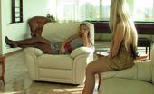 Nylon Feet Line Annabel & Stella Kinky Babe Tearing Her Silky Pantyhose Teasing A Cutie With Her Yummy Feet Nylon Feet Line