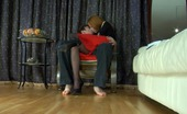 Nylon Feet Line Salome & Rolf Awesome Chick Strokes Her Nyloned Feet In Front Of Her Sex-Starving Lover Nylon Feet Line