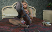 Nylon Feet Line Hatty Leggy Chick Demonstrates Her Nyloned Feet And Fits On Various Spike Heels Nylon Feet Line