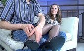 Nylon Feet Line Louisa Office Babe Gets Her Sexy Stockinged Feet Massaged Before A Raunchy Quickie Nylon Feet Line