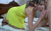 Nylon Feet Line 481704 Florence Slim Girl Rubs Cock With Slender Nylon Encased Feet Before Jumping On Top Nylon Feet Line