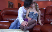 Nylon Feet Line Judith & Gerhard Charming Girl Lures Her Boyfriend Into A Fuck With Her Playful Nyloned Feet Nylon Feet Line