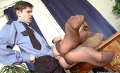 Nylon Feet Line 481808 Alice & Timothy Hot Policeman Is Obsessed With Temptation To Suck Babe'S Feet Clad In Nylon Nylon Feet Line