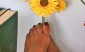 Nylon Feet Line Helena Hottie In Stiletto Heel Shoes Flashing Downskirt And Her Suntan Pantyhose Nylon Feet Line