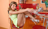 Nylon Feet Line Ira Voluptuous Babe Spreading Her Pantyhosed Legs To Show Her Feet In Sexy Way Nylon Feet Line