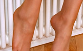 Nylon Feet Line Shenythia Nasty Babe Playing With Her Tempting Feet Clad In Suntan Pantyhose On Floor Nylon Feet Line