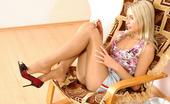 Nylon Feet Line Linda Smashing Chick Smoking Before Stroking Her Nyloned Pink With High Heel Shoe Nylon Feet Line