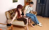 Nylon Feet Line Clementina & Vitas Sizzling Hot Guy Massaging Yummy Feet Clad In Black Hose After Shoesniffing Nylon Feet Line
