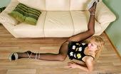 Nylon Feet Line Sarah Frisky Babe In Black Pantyhose Taking New Sensation From Steamy Foot Action Nylon Feet Line