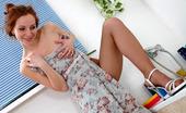 Nylon Feet Line Antoinette Naughty Chick Pedicuring Cute Feet Before Fitting On Her Suntan Pantyhose Nylon Feet Line