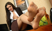 Nylon Feet Line Salome Voluptuous Secretary In Silky Pantyhose Tenderly Tickling Her Nyloned Feet Nylon Feet Line