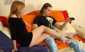 Nylon Feet Line Alice & Mike Vivacious Chick Licking Her Nyloned Feet In Front Of Her Sex-Crazy Neighbor Nylon Feet Line