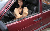 Nylon Feet Line Mila Vivacious Chick Flashing Her Lovely Feet In Silky Pantyhose From Her Car Nylon Feet Line