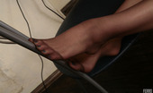 Nylon Feet Line Milenna Pony-Tailed Chick In Soft Silky Pantyhose Making A Show Of Her Foot Games Nylon Feet Line