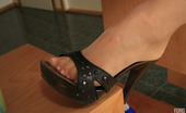 Nylon Feet Line Nikol Mischievous Chick Getting The Most From Foot Games With Her Pantyhose On Nylon Feet Line