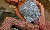 Fashion Pantyhose Blonde Miranda Showing Great Fashion Pantyhose-Clad Ass Fashion Pantyhose