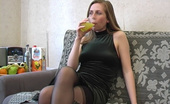 They Drunk 485068 Drunk Teen Blonde Masturbating In Black StockingsDrunk Teen Blonde Eva In Black Stockings Acts Horny And Masturbates On The Sofa Under The Influence Of Alcohol They Drunk