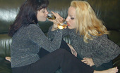 They Drunk Drunk Lesbians Put Banana Into The PussyDrunk Blonde And Brunette Lesbians Angelika And Sheril Use Banana As A Sex Toy Inserting It Into The Shaved Pussy They Drunk