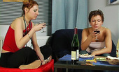They Drunk Drunk Teen Girls Easily Go Lesbian On First OccasionDrunk Teen Brunette And Redhead Guzell And Flora Suddenly Feel Hot Desire In Their Pussies And Go Lesbian They Drunk