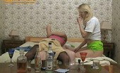 They Drunk Drunk Teen Girls Have Threesome SexDrunk Teen Blonde Roberta And Brunette Madlena Get Fun At Giving Blowjob And Making Threesome Sex With Their Fat Boyfriend Who Fucks Them And Licks Their Pussy They Drunk