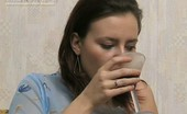 They Drunk Drunk StudentBrunette Girl Decided To Drink Fizz Instead Study They Drunk