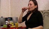 They Drunk Drunk AsianAsian Girl Is Getting Drunk After First Glass They Drunk