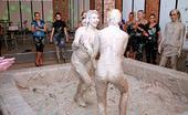 All Wam Hot Teen Lesbian Girls Love Playing In A Tub Of Wet Mud All Wam