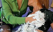 All Wam Two Gorgeous Lesbian Sluts Playing With Can Of Shaving Cream All Wam