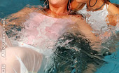 All Wam Two Hot Girls Playing In Pool Wearing See Thru Clothing All Wam